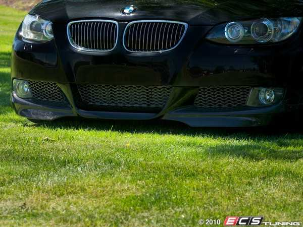 ES#1895235 - 0102800B - Carbon Fiber Aero Front Replica Valance - Aggressive Aero styling with a carbon fiber race look - ECS - BMW
