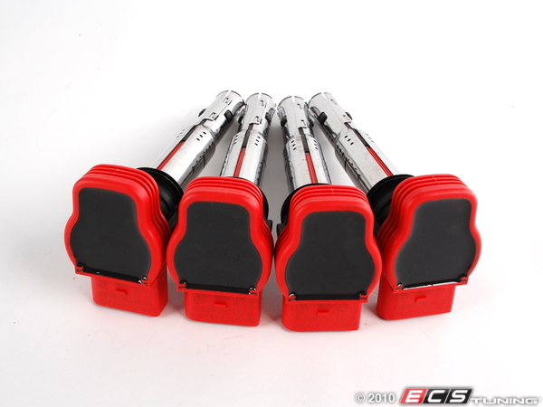 ES#2065380 - 06E898001 - Coil Pack - Set Of Four - Dress up your engine bay with these red colored coil packs - Genuine Volkswagen Audi - Audi Volkswagen