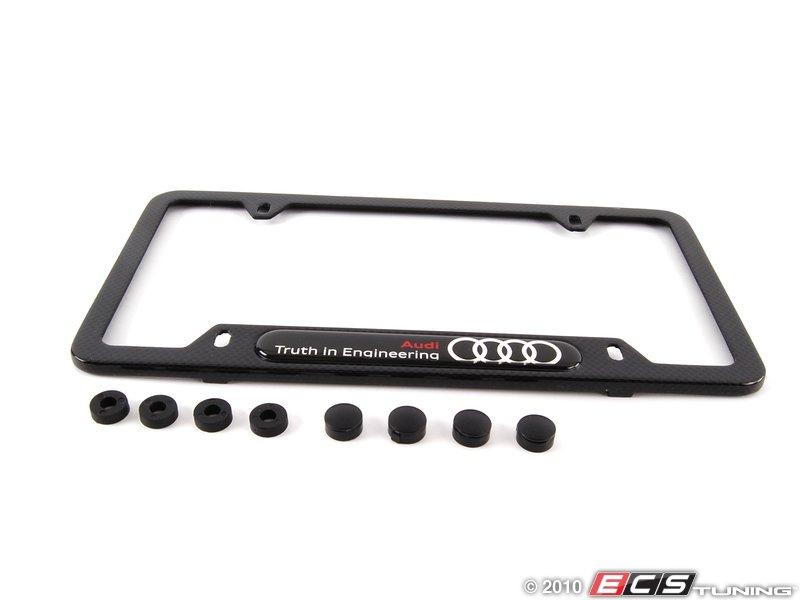 Audi b7 rs4 v8 8k0071801b carbon fiber license plate for Mercedes benz amg carbon fiber license plate frame