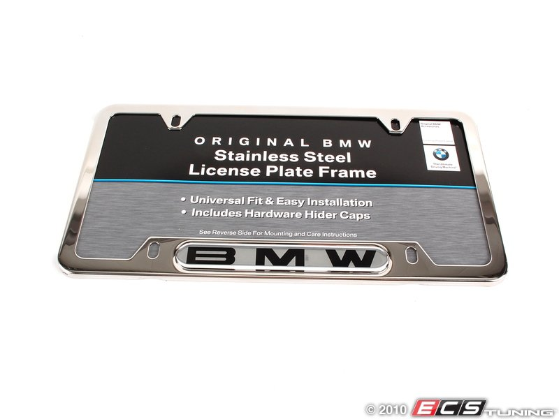 82120010395 bmw license plate frame polished es 196050. Cars Review. Best American Auto & Cars Review