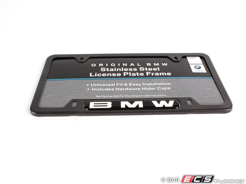 es 195135 82110413117 bmw license plate frame carbon fiber. Cars Review. Best American Auto & Cars Review