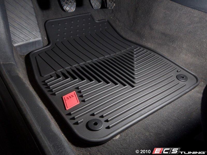 audi b5 a4 quattro 1 8t zaw179004blk all weather rubber floor mats set of four black. Black Bedroom Furniture Sets. Home Design Ideas