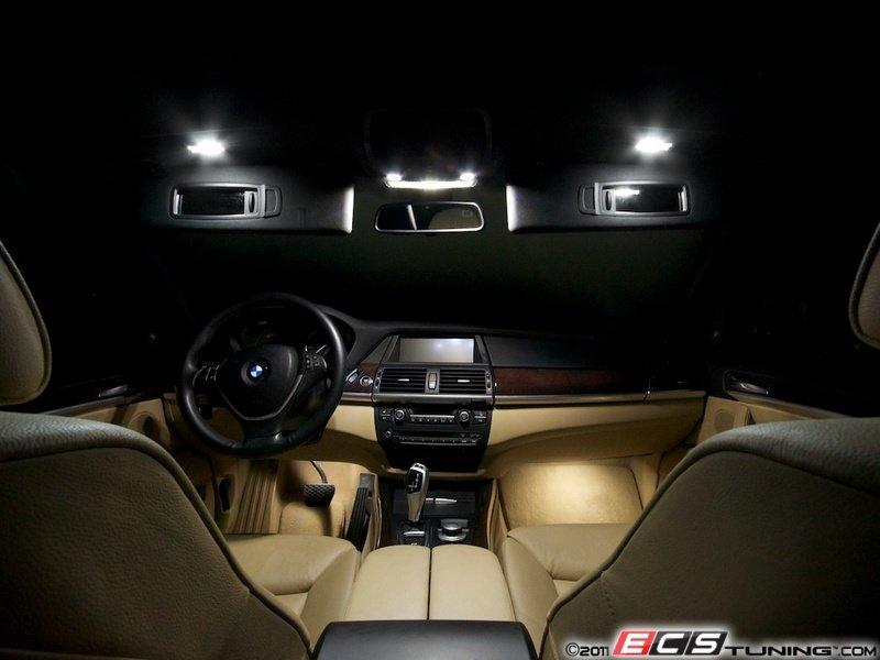 ecs news bmw e70 x5 led interior lighting kit