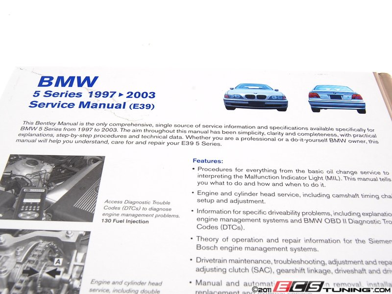 1997 BMW 528i 540i Owners Manual Set