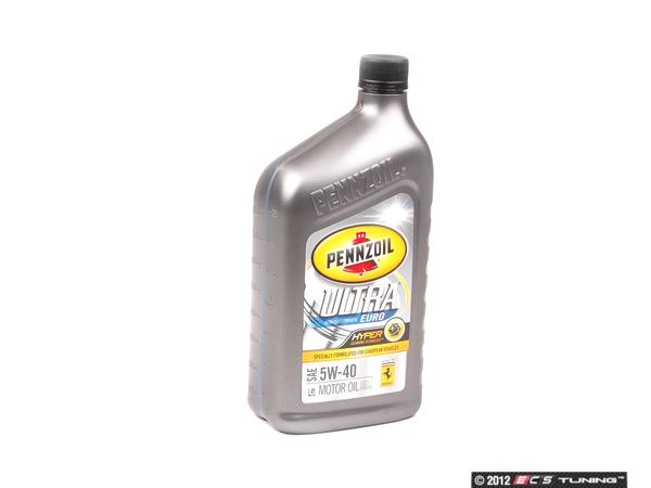 5w40kt Pennzoil Ultra Euro 5w 40 Oil One Quart Es 2580345