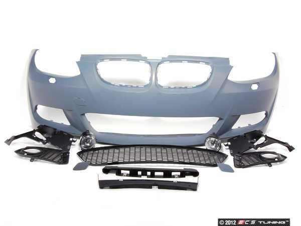 ES#1306791 - E92MTECH-FRONT - M-Sport Front Bumper Assembly Retrofit - Complete front bumper cover, primed ready for painting - Genuine BMW - BMW