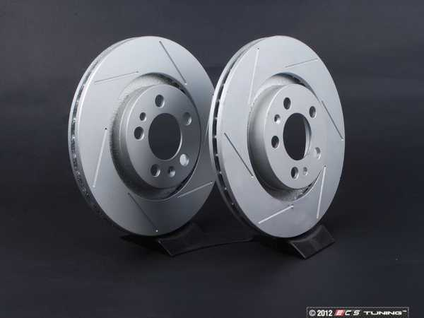 Front Slotted Brake Rotors - Pair (280x22)