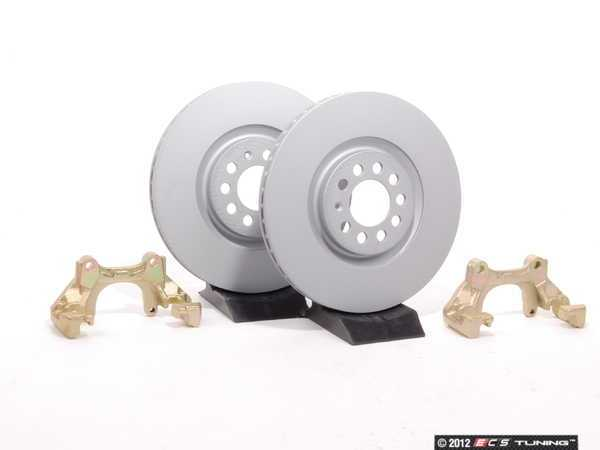ES#410 - MK4TTBBKNP-P - Big Brake Kit - Plain Rotors (312x25) - Upgrade to larger rotors for increased brake torque. Reuse your stock calipers, pads, and mounting hardware! - Assembled By ECS - Volkswagen