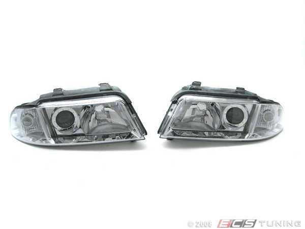 ES#261515 - HXAUA4B5HL-1C - Euro Halogen Headlight Set - Upgrade to the European style housings without amber indicators - Depo - Audi