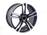 ES#2652325 - 856-2KT - Style 856 - Set Of Four - Hyper Black/Machined Face - 21x10, 5x130, ET55, 71.6mm center bore - Alzor - Porsche