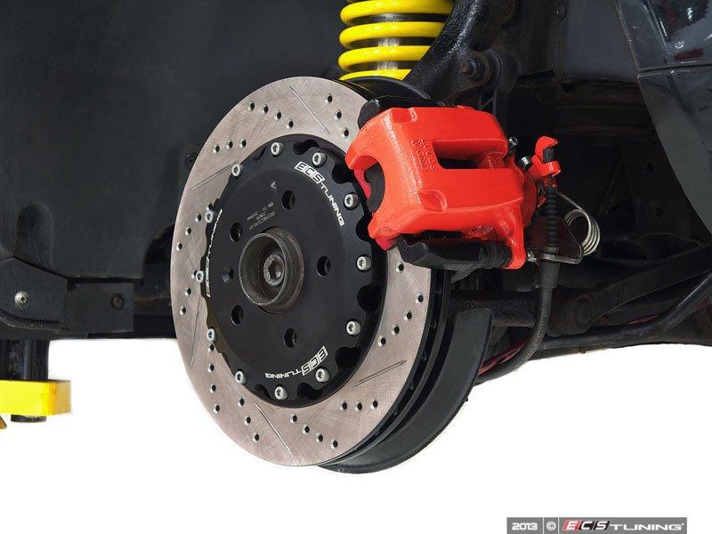 audi b5 s4 2 7t b5s4s1rbbk xs rear big brake kit stage i cross drilled slotted rotors. Black Bedroom Furniture Sets. Home Design Ideas