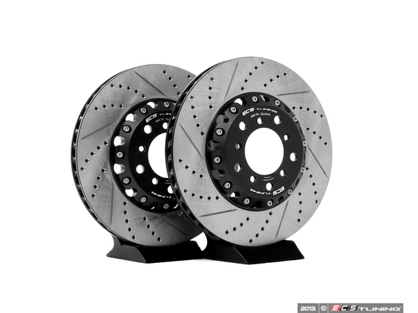 2-Piece Front Brake Rotors - Pair (325x28)