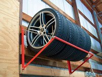 Wall-Mounted Wheel  Tire Storage Rack