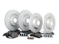 ES#2574520 - MKVSLTBRKPRFHWK - Performance Front  Rear Brake Service Kit - Featuring ECS GEOMETreg; slotted rotors and Hawk HPS pads. - Assembled By ECS - Volkswagen