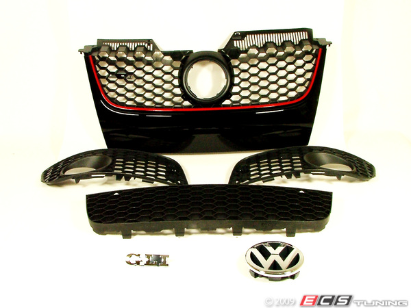 ES#5994 - 1k0898000 - GLI Grille Set - 6 Piece Kit - Update the look for your non-GLI Jetta to the sport GLI honeycomb look - Genuine Volkswagen Audi - Volkswagen