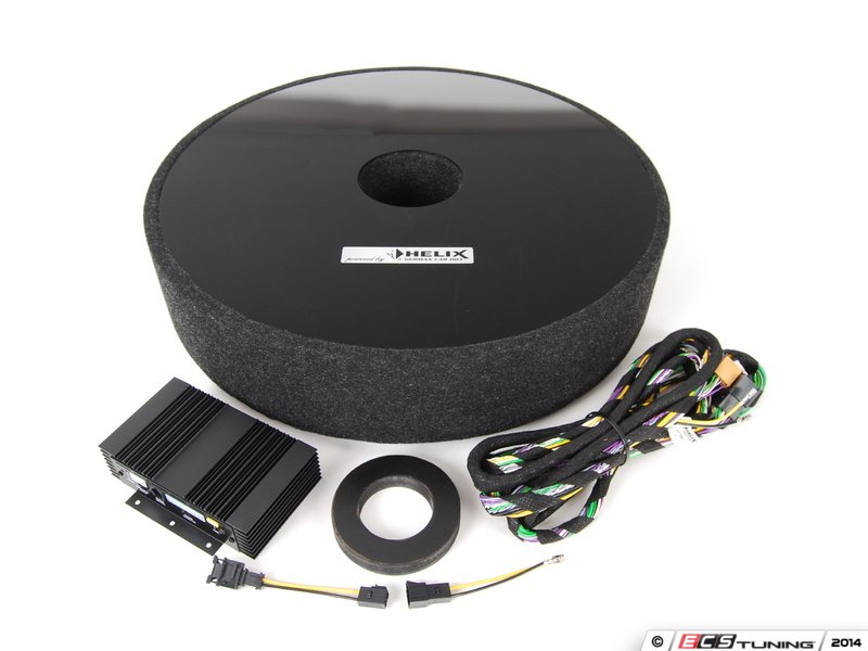 Vw Oem Helix Accessory Subwoofer In Spare Wheel Well