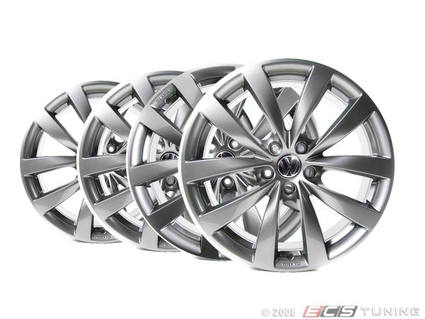ES#1892169 - 1K8071499QQ9 - 19 Sagitta Wheel - Set Of Four - 19x8 ET41 5x112 alloys in silver  - Genuine Volkswagen Audi - Volkswagen